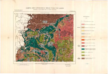 Carta geo-litologica delle Valli di Lanzo