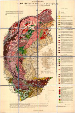 Carta geologica delle Alpi occidentali