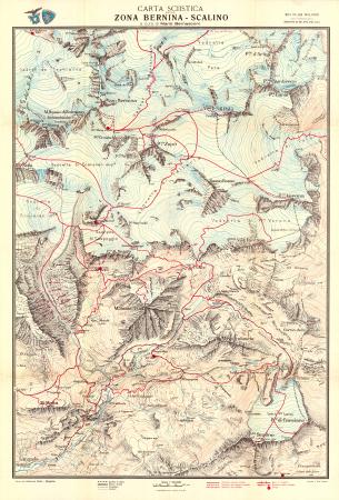 Carta sciistica della zona Bernina - Scalino
