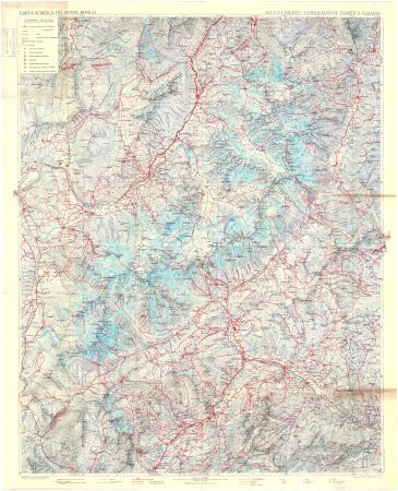 Carta sciistica del Monte Bianco