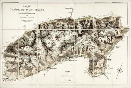 Carte de la Chaîne du Mont-Blanc
