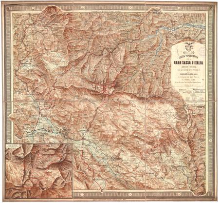 Carta topografica del Gran Sasso d'Italia