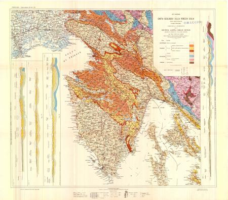 Schema di carta geologica della Venezia Giulia zona meridionale (Istria)