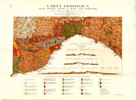 Carta geologica delle Riviere liguri e delle Alpi Marittime