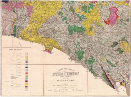 Carta geologica dello Appennino Settentrionale (parte centrale)