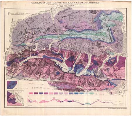 Geologische Karte des Karwendelgebirges