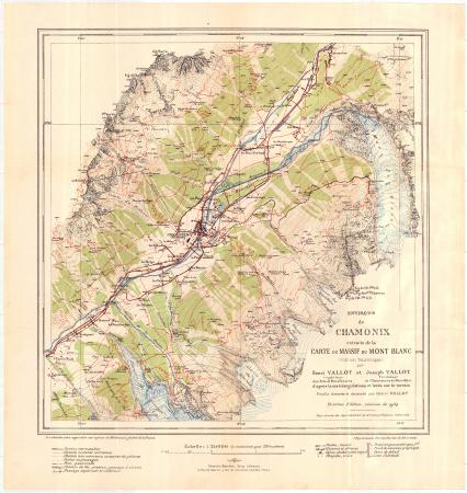 Environs de Chamonix : extraits de la carte du Massif du Mont Blanc (édition touristique)