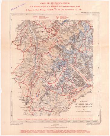 Région Sud-Ouest : [Les Houces, St. Gervais, Cols Joly, du Bonhomme, de la Seigne]