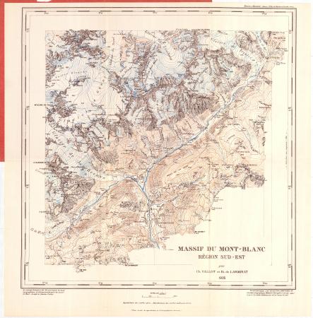 Région Sud-Est : [Aig. de Chamonix, Gl. de Leschaux, Col du Géant, Courmayeur]
