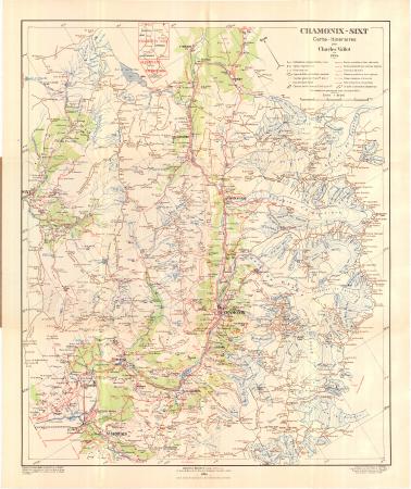 Chamonix-Sixt : carte-itinéraires