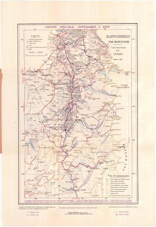 Saint-Gervais, Val-Montjoie : carte-itinéraires