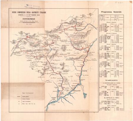Itinerario : *36. Congresso degli alpinisti italiani