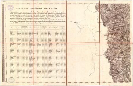 Carta topografica dei ducati di Parma, Piacenza e Guastalla. F.° 4