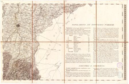 Carta topografica dei ducati di Parma, Piacenza e Guastalla. F.° 6