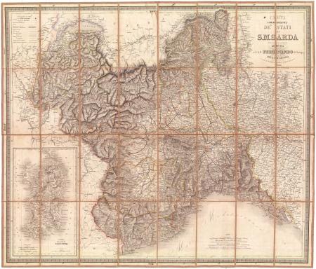 Carta corografica degli Stati di S.M. Sarda nella scala di 1 a 400.000