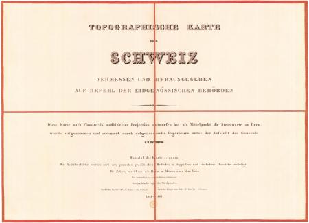 [Blatt I] : *Topographische Karte der Schweiz