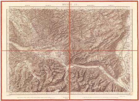 Blatt IX: *Schwyz, Glarus, Appenzell, Sargans