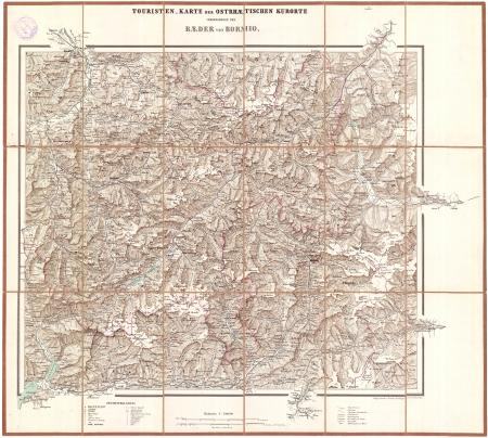 Touristen-Karte der ostrhätischen Kurorte : insbesondere der Bäder von Bormio