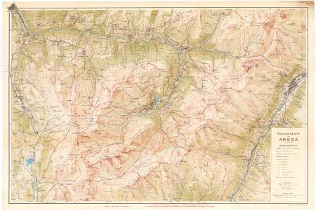 Touristenkarte von Arosa : [Graubünden 1856 m.]