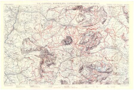 Val Gardena, Marmolada, Catinaccio, Gruppo di Sella : carta sciistica