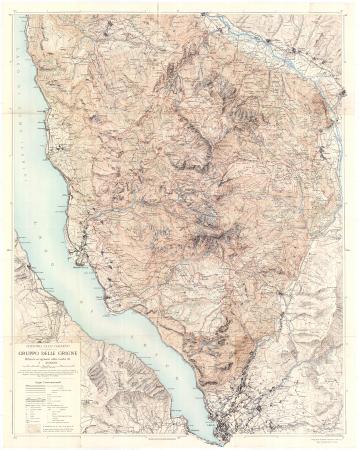Gruppo delle Grigne : rilievo originale alla scala d 1:20 000