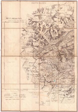 Monte Bianco : F. 27 della Carta d'Italia