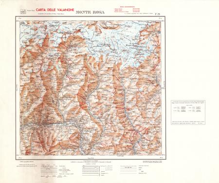 Monte Rosa : F.° 29 : carta delle valanghe