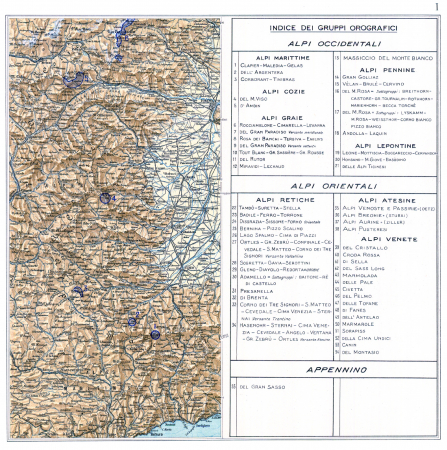 Atlante dei ghiacciai italiani : carta corografica : parte prima. 1
