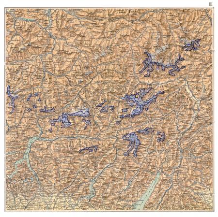 Atlante dei ghiacciai italiani : carta corografica : parte prima. 3