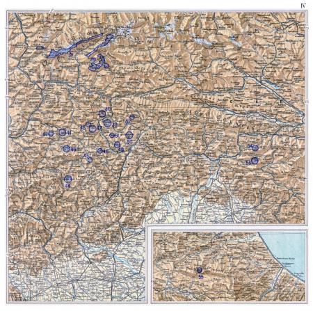 Atlante dei ghiacciai italiani : carta corografica : parte prima. 4