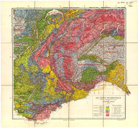 Les Alpes Occidentales : schéma géologico-tectonique