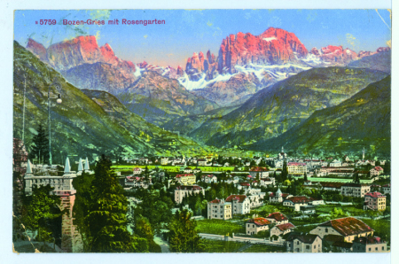 N 5759 Bozen-Gries mit Rosengarten