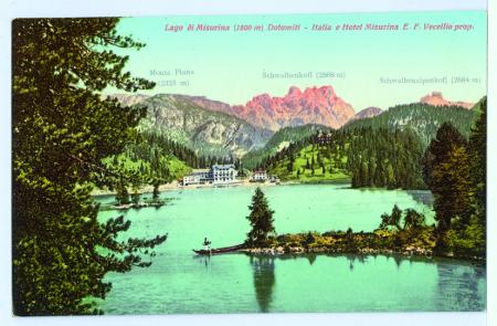 Lago di Misurina (1800 m) Dolomiti - Italia e Hotel Misurina