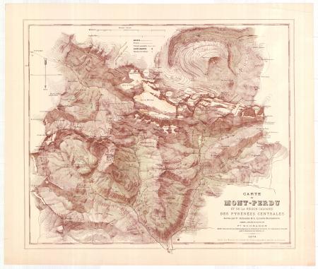 Carte du Mont-Perdu et de la région calcaire des Pyrénées centrales