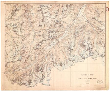 Excursions-Carte des Schweizer Alpenclub für 1878