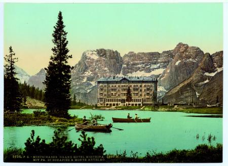 8654 Misurinasee. Grand Hotel Misurina. 1800 M. mit Pa di Sorapiss & Monte Antelao