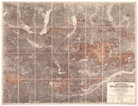 Reisekarte des Salzkammergutes und der angrenzenden Gebiete
