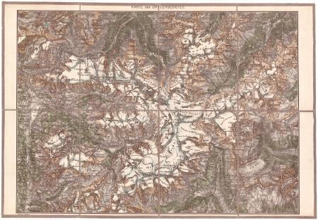 Karte des Ortlergebietes