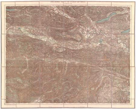 Umgebungskarte von Villach und Tarvis