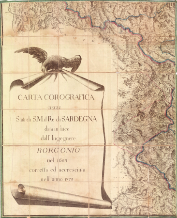Carta corografica degli Stati di S.M. il Re di Sardegna. [4]