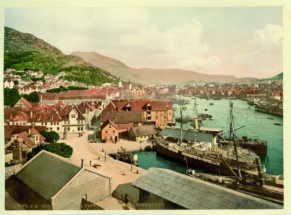 7002 Bergen. General view from Walkendorff's tower