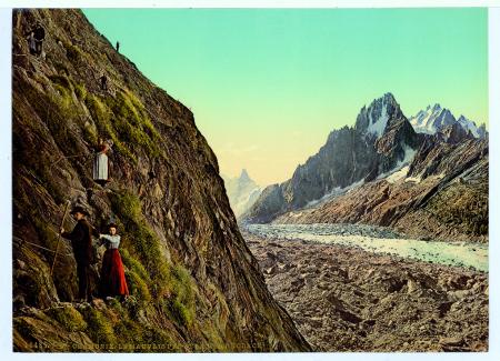 16485 Chamonix. Le Mauvais Pas et la Mer de Glace