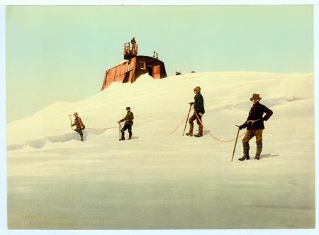 16694 Sommet du Montblanc et l'Observatoire (4810 m.)