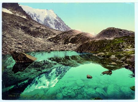 17814 Chamonix. Le Plan de l'Aiguille. Le Lac et l'Aiguille du Midi