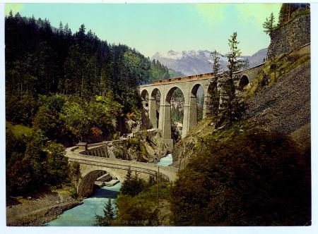 17816 Chamonix. Pont Ste. Marie et viaduc du chemin de fer