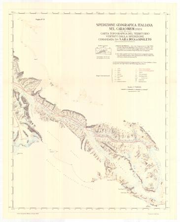 Spedizione geografica italiana nel Caracorum (1929). Foglio n. 3