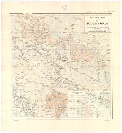 Il Karakorum : secondo le ultime esplorazioni con speciale riguardo al contributo degli italiani, 1928