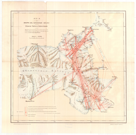 Asia : gruppo del Karakoram (Imalaia) : ghiacciai Baltoro e Godwin-Austen