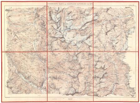 Excursions-Carte des Schweizer Alpenclub für 1872