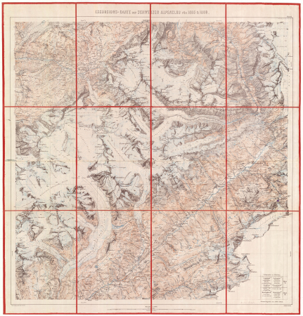 Excursions-Carte des Schweizer Alpenclub für 1885 & 1886